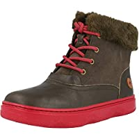 Camper KIDO Dark Grey Leather Junior Ankle Boots