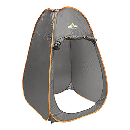 41bKmS ByPL. SS500  - Milestone Camping 14140 Toilet Tent Pop Up Privacy Tent for Outdoor Changing Dressing Fishing Bathing Storage Room Tents, Portable with Carrying Bag, Dark Grey