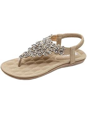 lifetrend Zapatos planos de mujer Bohemia Lady Slippe Sandalias Peep-Toe Zapatos al aire libre
