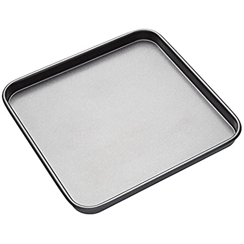 KitchenCraft MasterClass Non-Stick Square Baking Tray, Grey, 26 cm