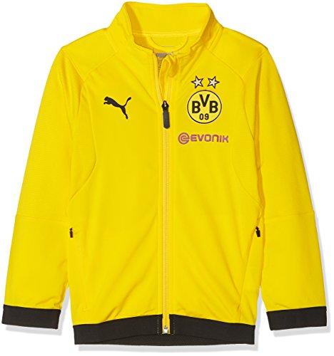 Puma Kinder BVB Poly Jacket Jr Sponsor Logo with 2 Side Pockets wit Jacke, Cyber Yellow, 152