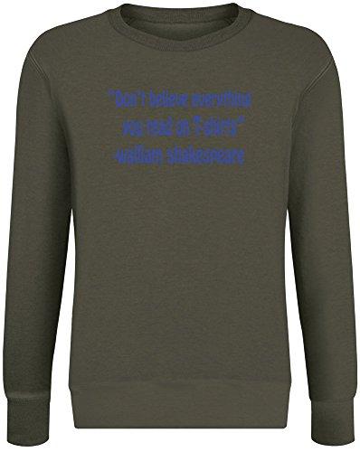 hing You Read on T-Shirts Pullover für Männer & Frauen - Weiche Baumwoll- & Polyester-Mischung - Kundenspezifische Bedruckte Unisex-Kleidung X-Large (Shakespeare Kleidung)