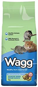 Wagg Hamster Gerbil Mouse Munch 1 Kg Pack Of 9 from Wagg Foods Ltd