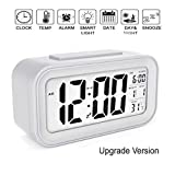Smartone Digital Alarm Clock for Home Bedroom with Smart Automatic Sensor Backlight LCD