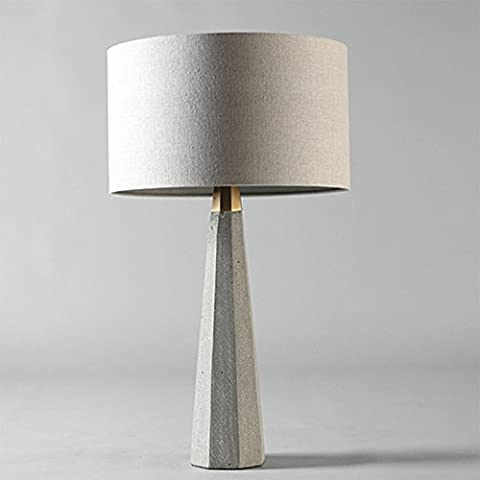 QNQA Simple modern advanced grey cement table lamp, American living room, bedroom, creative model room decoration, Nordic cone