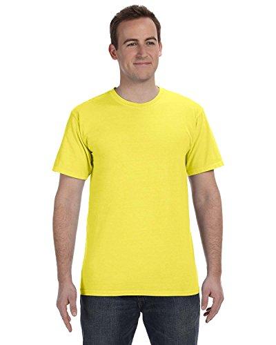 Gelber Fu§ball auf American Apparel Fine Jersey Shirt Neon Gelb