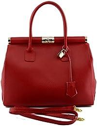 Eimertasche Aus Echtem Leder Mit Tunnelzug Verschluss Farbe Schwarz - Italienische Lederwaren - Damentasche Dream Leather Bags Made in Italy
