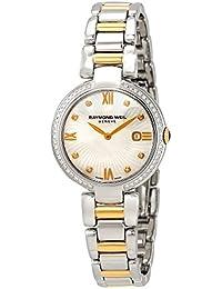 Raymond Weil Shine Femme Diamant 32mm Bracelet Acier Bicolore Quartz Cadran Nacre Montre 1600-SPS-00995