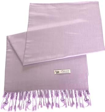 Light Purple 100% Pashmina Shawl Scarf Wrap Stole Throw