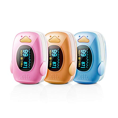 KJHG Kinder-Pulsoximeter Digitales rotierendes OLED-Display zur Messung des Sauerstoffgehalts im Blut SpO2-Fingeroximeter zur Messung der...