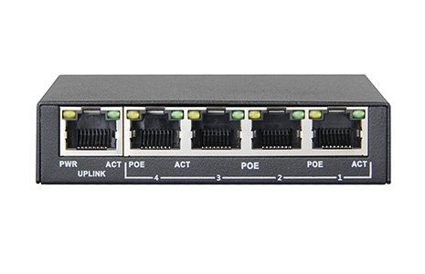PS504G - Mini Gigabit PoE Switch, 5 Ports, 4 Ports PoE, Gigabit Ethernet, 802.3 af, 802.3 at, 48 V, 60 W, Power over Ethernet