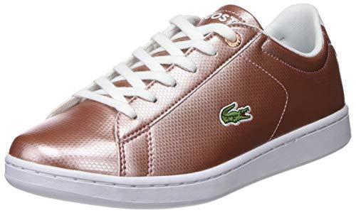 Lacoste Unisex-Kinder Carnaby Evo 119 6 Suj Sneaker, Pink (Pnk/Wht F50), 36 EU