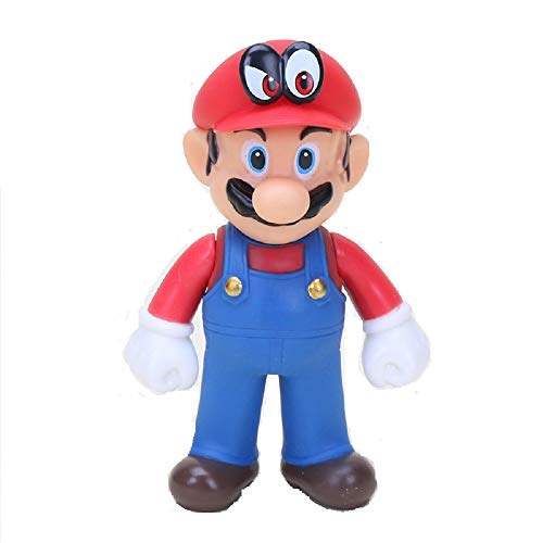 CY 13 cm Super Mario Bros Luigi Mario Yoshi Koopa Mario Maker Odyssey Mushroom Toadette PVC Action-Figuren Spielzeug Modell Puppen (Red hat Eye) (Action-figur-puppen Cm 12)