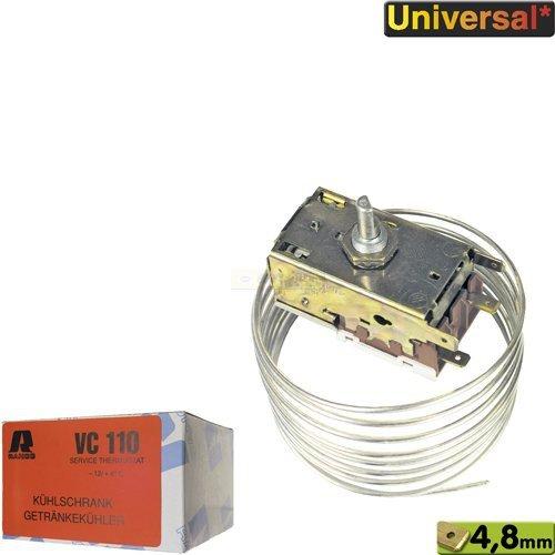 Ranco Thermostat K50-H1108, VC110, K50H1100 K50H1109 Servicekühlthermostat, für 1-Sterne-Kühlschränke und Flaschenkühler