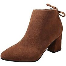 Botines Tacon de Cuña para Mujer Zapatos Plataforma por ESAILQ D