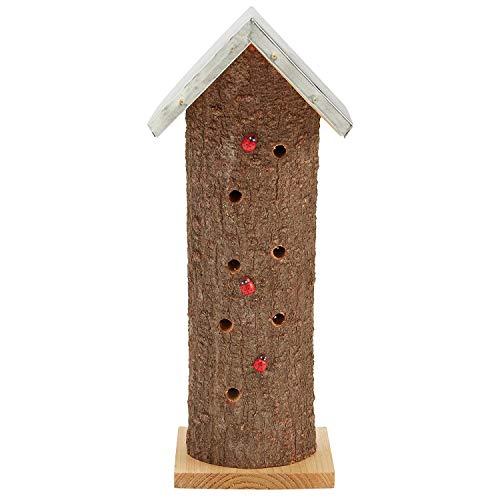 Garden Life Coccinelle en Bois Maison d'insecte en nid d'abeille Naturelle