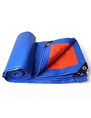 KCoob Rot und Blau Reversible Mehrzweck Wasserdichte Poly Tarp Abdeckung mit Zelt Shelter Camping Plane Medium Duty von Ncika - Gartenmöbel von Du und Dein Garten