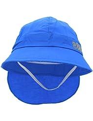 YOPINDO Summer Beach Sun Protection Chapeau de bébé enfant avec boucle de menton (bleu)
