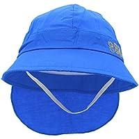 YOPINDO Verano de la Playa de Protección Solar Baby Toddler Bucket Hat con Correa Chin (Azul)