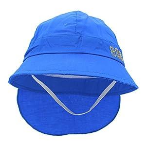 YOPINDO Sommer Strand Sonnenschutz Baby Kleinkind Eimer Hut mit Kinn Strap