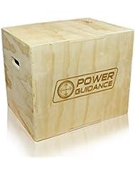POWER GUIDANCE 3 in 1 Holz Plyo Box, Jump Box - Ideal für Cross Training - 75/60/50cm, 60/50/45cm, 40/35/30cm - Plyometrische Sprungbox