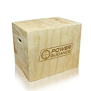 POWER GUIDANCE 3 in 1 Holz Plyo Box, Jump Box – Ideal für Cross Training – 75/60/50cm, 60/50/45cm, 40/35/30cm – Plyometrische Sprungbox