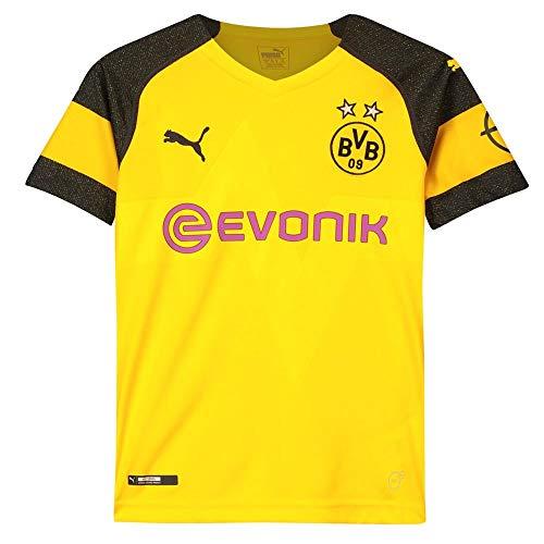 PUMA Kinder Bvb Home Shirt Replica Jr Evonik with Opel Logo Trikot, gelb (Cyber Yellow), 128 -