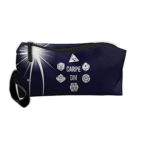 Carpe DM Makeup Bag/Travel Cosmetic Bag/Brush Pouch Case With Zipper Carry Case