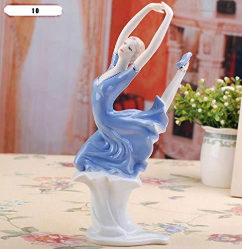 EZQYC Figur und Miniatur Hochwertige Statue Keramik Göttin Mädchen Dame Figuren Wohnkultur Handwerk Raumdekor Hochzeit Handwerk Ornament Porzellan, 10-038