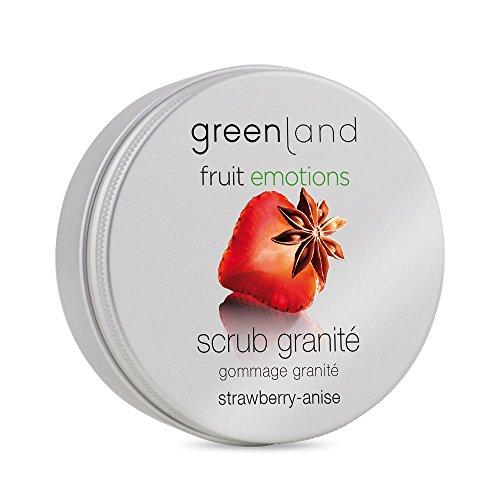 Erdbeer-peeling (Greenland Scrub Granité Erdbeer Anis | Verwöhnendes Gesichtspeeling & Peeling Körper in einem | 200ml Sanftes Scrub Peeling | Einzigartige Textur)