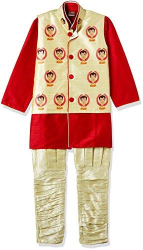 Chhota Bheem Boys' Kurta Pyjama (GGAPP-CB516B_Red_3-4 yrs)
