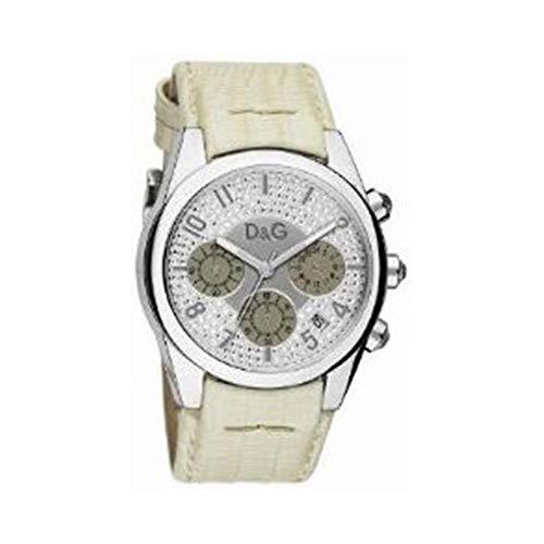 Dolce Gabbana - DW0258 - Montre Femme - Quartz - Chronographe - Bracelet Cuir Beige