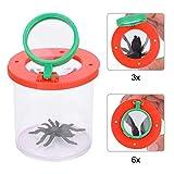 Tbest Becherlupe Kinder Lupenbecher Lupendose Bug Viewer Insect Magnifier Box, Kinder einfügen Bug Viewer Magnifying Bug Box Viewer vergrößert Lernspielzeug Vergrößerung Lupe Backyard Explorer