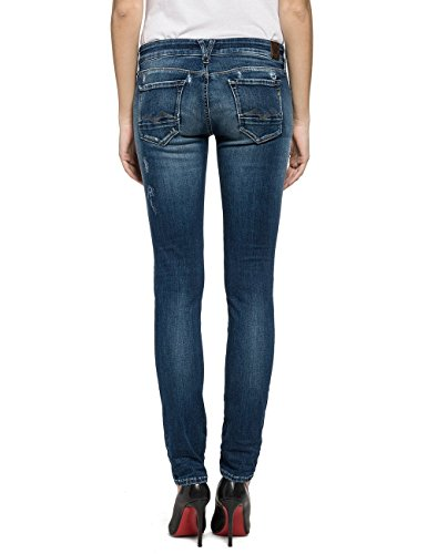 Replay Damen Jeanshose Rose Blau (Blue Denim 9)