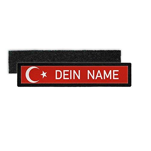 Türkei Namenschild Patch mit Namen Türkiye Türkische Fahen Halbmond Stern #24345