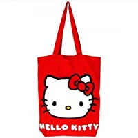 Sanrio Hello Kitty 'Classic' Red Cotton Tote Shopping Bag Summer Bag - Official UK Licensed Product