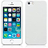 Terrapin PU Leather Back Case for Apple iPhone SE / 5s / 5 - White Snakeskin
