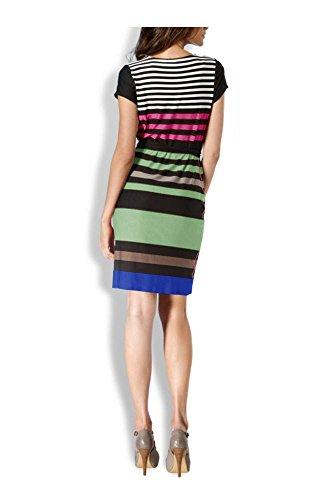 Rick Cardona Damen-Kleid Kleid Mehrfarbig schwarz-grün-bunt