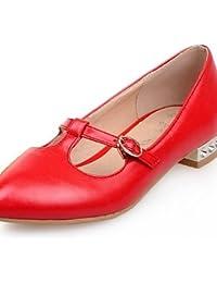 ZQ Zapatos de mujer - Tacón Bajo - Punta Redonda - Mocasines - Casual - Semicuero - Amarillo / Rosa / Rojo / Blanco...