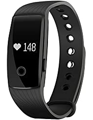 【Neue Version】Mpow Touch-Taste Bluetooth 4,0 Fitness Armbänder mit Pulsmesser,Smart Fitness Tracker mit Herzfrequenzmesser, Schrittzähler, Schlaf-Monitor, Remote Shoot, Anrufen / SMS, finden Telefon für Android iOS Smartphone
