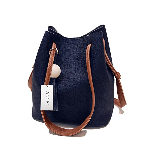 ANNE Borsa della borsa del sacchetto di modo delle donne Black