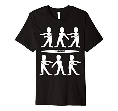 Geniales Shirt mit Zahnseide Tanz