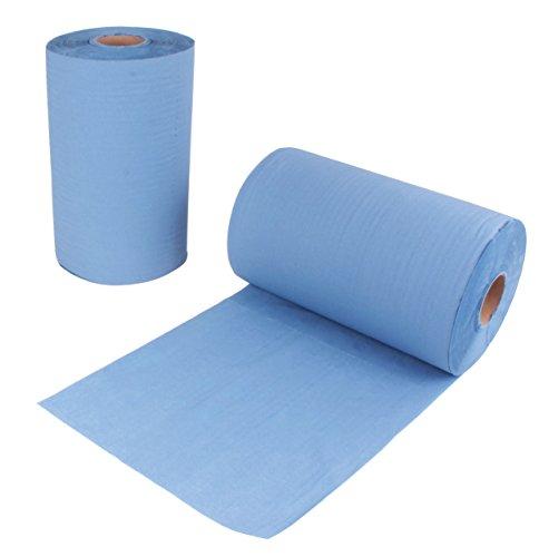 2 Stück Putzrollen blau | je 500 Blatt 2-lagig | 36x38 cm | randverleimt geprägt und nassfest |...