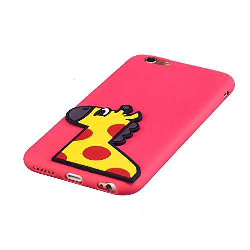 EUWLY Silicone Custodia per iPhone 6 Plus/iPhone 6s Plus (5.5), 3D Creativo Cute Cartoon Animale Solid Modello TPU Cover Case per iPhone 6 Plus/iPhone 6s Plus (5.5) Ultra Sottile Morbido Silicone TP Cervo