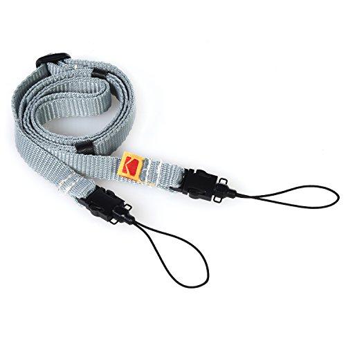 Kodak Printomatic Kamera Umhängeriemen (Grau) – Verstellbar, bequem, praktisch – Die einfachste Möglichkeit, jeden Kodak-Moment festzuhalten