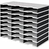 Styro Papier- und Dokumentenablage styrodoc trio Grundeinheit 24 Fächer grau/schwarz