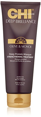 CHI Deep Brilliance Olive & Monoi Deep Protein Masque Strengthening Treatment 237ml