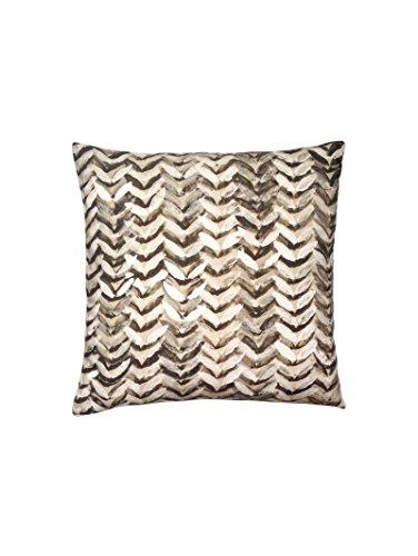 Bedrucktes Kissen Scandinavian Design CUSHION PILLOW LEAVES 04415000 Modernes Muster Grün/Ecru -