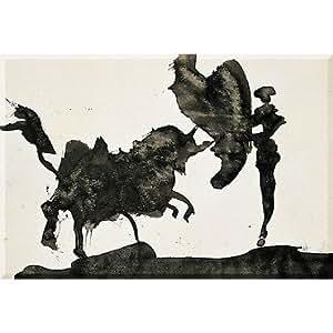Paris - Musée Picasso - Scène de corrida : passe de cape (détail) - Magnet 5,4 x 7,9 cm