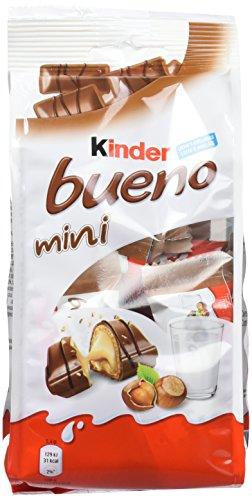 Kinder Bueno Mini Barritas con Relleno de Leche y Avellanas, Recubiertas de Chocolate - 20 Unidades